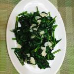 空芯菜 中華料理で定番の青菜炒め、あっさりくせがなく、汗と共に失われるカリウムをたっぷり含みます。