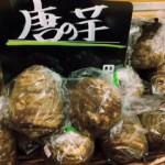唐の芋 肉質キメ細かくクリーミーな味わい。煮崩れしにくく煮物や揚げ物、ケーキにも使われます。